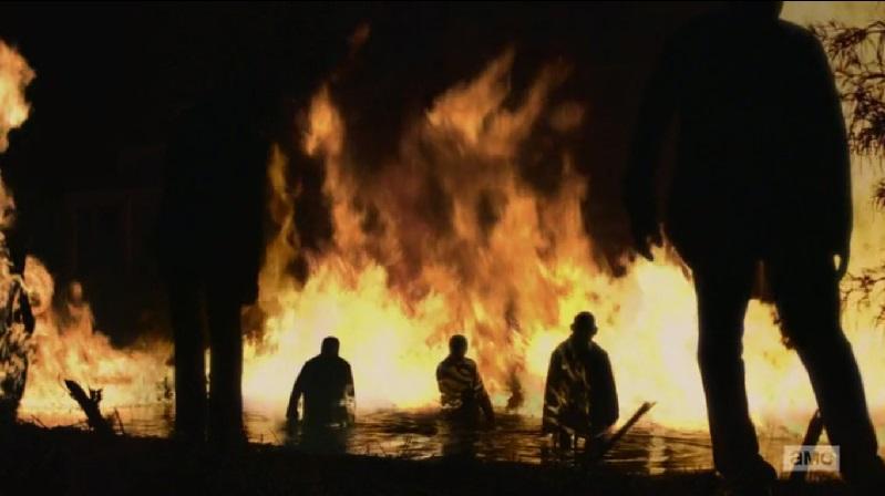 burning zombies